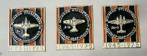 Original Russian Pin Badge - Indiginous Military Aircraft Production 1945/75 x 3